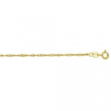 14 Karat / 585 Gold Feine Singapur Kette Gelbgold - Länge wählbar (60) - 1