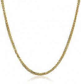 18 Karat 750 Gold Diamantschliff Spiga Weizen Gelbgold Kette - Breite 1.50 mm - Länge wählbar (50 CM) - 1