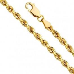 18 Karat / 750 Gold Kordelkette Gelbgold Breite 5.50 mm (Rope kette) Unisex Goldkette (50) - 1