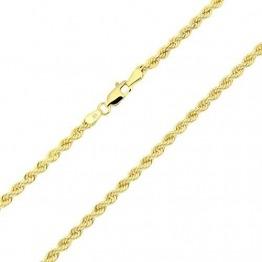 18 Karat / 750 Gold Kordelkette Gelbgold Unisex Kette - 3 mm. Breit - Länge wählbar (45) - 1