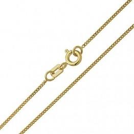 Damen Halskette 14 Karat (585) Gelbgold Panzerkette Gold Breite 1,10mm Länge 36cm 38cm 40cm 42cm 45cm 50cm 55cm 60cm Goldkette (45 Zentimeter) - 1