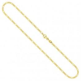 Goldkette, Figarokette diamantiert Gelbgold 750 / 18K, Länge 42 cm, Breite 2.2 mm, Gewicht ca. 5.9 g, NEU - 1