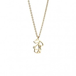 La Menagerie Kaninchen Gold, Origami-Schmuck & vergoldete geometrische Kette - 18-karätig Goldkette & Kaninchen-Halsketten - Kaninchen-Halskette für Frauen & Mädchen & Origami-Halskette - 1