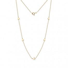 Miore Kette Damen Halskette mit Herzen Gelbgold 18 Karat / 750 gold, Länge 42 cm Schmuck - 1