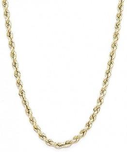 PRINS JEWELS 18 Karat 750 Gold Kordelkette Gelbgold Unisex - 3.80 mm. Breit (50) - 1