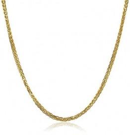 14 Karat 585 Gold Diamantschliff Spiga Weizen Gelbgold Kette - Breite 2 mm - Länge wählbar (50) - 1