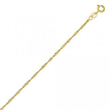 14 Karat / 585 Gold Feine Singapur Kette Gelbgold - Länge wählbar (50) - 2