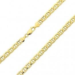 14 Karat / 585 Gold Italienisch Flach Mariner Kette Gelbgold - Breite 3.10 mm - Länge wählbar (40) - 1