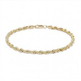 14 karat / 585 Gold Kordel Armband Gelbgold 3 mm. Breit (23) - 1