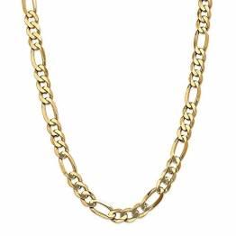 14 Karat Gelbgold, 10 mm, Hummer-Figaro-Kette, Halskette, 66 cm für Damen und Herren - 1