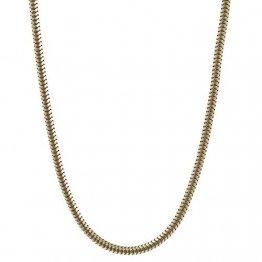 1,4 mm 42 cm 750-18 Karat Weißgold Schlangenkette rund massiv Gold hochwertige Halskette 6,1 g - 1