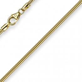 1,9mm Schlangenkette Kette Collier 750 Gold Gelbgold Goldkette 60cm Unisex - 1