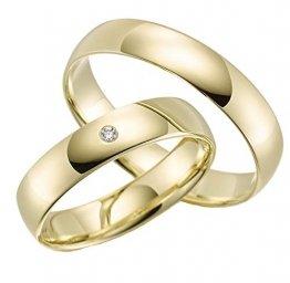 2 x 375 Trauringe Gelbgold ECHT GOLD Eheringe schlichte Trauringe LM.05.GG Trauringe Paarpreis vom Juwelier Echtes Gold Verlobunsringe Wedding Rings Trouwringen - 1