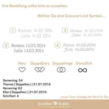 2 x 585 Trauringe Gold Bicolor Weißgold Eheringe Massiv Paarpreis LM.10 Weißgold Trauringe Paarpreis vom Juwelier Echtes Gold Verlobunsringe Wedding Rings Trouwringen (9 Karat (375) Bicolor) - 4