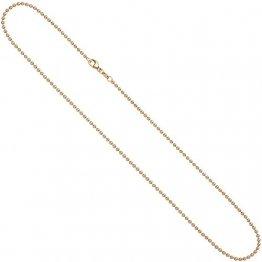 2,0mm Kugelkette Kette Halskette Collier Goldkette 585 Gold Rotgold 50cm Damen - 1