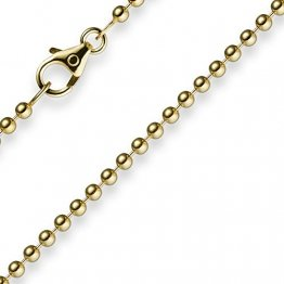2,5mm Kette Goldkette Halskette Kugelkette aus 585 Gold Gelbgold 42cm Unisex - 1
