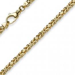 3,5mm Kette Halskette Königskette aus 585 Gold Gelbgold 45cm Herren Goldkette - 1
