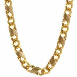 3,7 mm 45 cm 585-14 Karat Gelbgold Dollar Kette massiv Gold hochwertige Halskette 20,7 g - 1