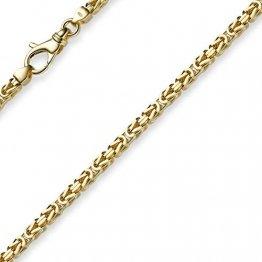 3mm Kette Halskette Königskette aus 585 Gold Gelbgold 70cm Herren Goldkette - 1