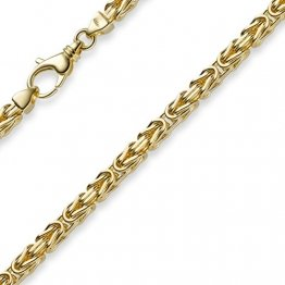 4mm Kette Halskette Königskette aus 585 Gold Gelbgold 60cm Herren Goldkette - 1
