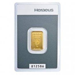 5 Gramm Goldbarren Heraeus im Blister LBMA-Zertifiziert NEU - 1