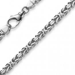 5mm Königskette Kette Halskette aus 585 Gold Weißgold, 70cm, Herren - 1