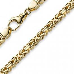 6mm Kette Halskette Königskette aus 750 Gold Gelbgold 65cm Herren Goldkette - 1