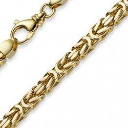 7mm Armband Armkette Königskette aus 585 Gold Gelbgold 22cm massiv - 1