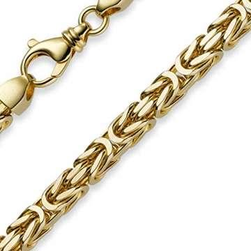 7mm Königskette aus 750 Gold Gelbgold Kette Halskette 70cm Herren - 1