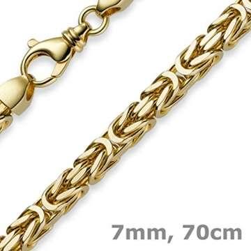 7mm Königskette aus 750 Gold Gelbgold Kette Halskette 70cm Herren - 5