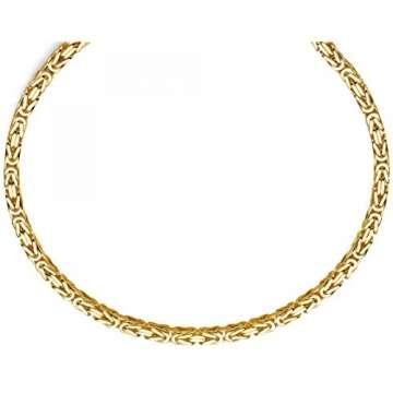 7mm Königskette aus 750 Gold Gelbgold Kette Halskette 70cm Herren - 6