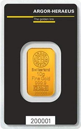 Argor-Heraeus 10g Goldbarren 999.9 Blister - 1