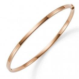 Armreif Armband Armschmuck aus 585 Gold Rosegold 3mm breit flach Goldarmreif - 1