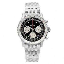 Breitling Navitimer 1 Steel Black Dial Automatic Mens Watch AB012121/BG75-450A - 1