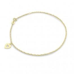 Carissima Gold Damen-Fußkette 9 Karat (375) Gelbgold 24 cm - 1