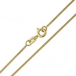 Damen Halskette 14 Karat (585) Gelbgold Panzerkette Gold Breite 1,10mm Länge 36cm 38cm 40cm 42cm 45cm 50cm 55cm 60cm Goldkette (50 Zentimeter) - 1