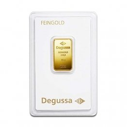 Degussa Goldbarren 10 Gramm 999.9/1000 Feingold geblistert original verpackt und bankfrisch (10) - 1