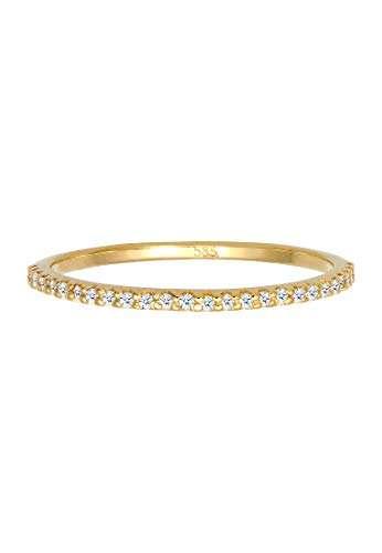 DIAMORE Ring Damen Geo Microsetting mit Diamant (0.25 ct.) in 585 Gelbgold - 3