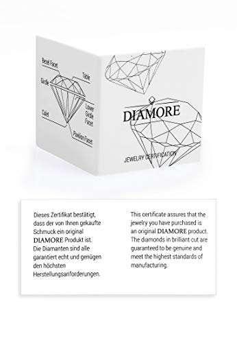DIAMORE Ring Damen Geo Microsetting mit Diamant (0.25 ct.) in 585 Gelbgold - 5