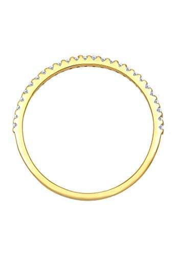 DIAMORE Ring Damen Geo Microsetting mit Diamant (0.25 ct.) in 585 Gelbgold - 7
