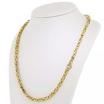 Echt 585 Gold Königskette Halskette Gelbgold Herrenkette Goldkette 65cm 5,50mm Massiv K3 - 2