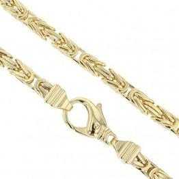 Echt 585 Gold Königskette Halskette Gelbgold Herrenkette Goldkette 65cm 5,50mm Massiv K3 - 1