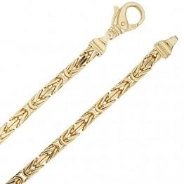 Echt 585 Gold Königskette Halskette Gelbgold Herrenkette Goldkette 70cm 4,00mm Massiv K13 - 1