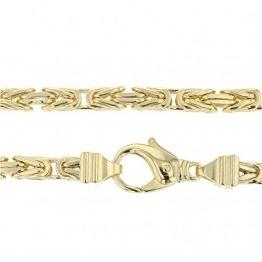 Echt 585 Gold Königskette Halskette Gelbgold Herrenkette Goldkette 70cm 6,00mm Massiv K6 - 1