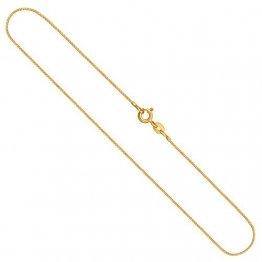 Edelweiss Venezianerkette, Goldkette Damen/Herren 585er Echtgold (14k) Goldhalskette, in Länge 40 cm, Breite 0,8 mm, Unisex Goldschmuck - 1