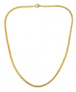 Feine Königskette 18kt vergoldet 2,4 mm Länge 55 cm, Halskette Goldkette Herren-Kette Damen Geschenk Schmuck ab Fabrik Italien tendenze BZG2,4-55 - 1