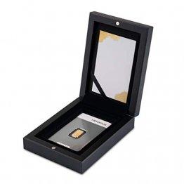 Goldbarren 1g Heraeus im edlen Geschenk-Etui mit Grußkarte - Schwarz - Feingold 999,9 (1g Gold) - 1