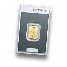 Goldbarren  5 Gramm Heraeus - Feingold 999.9 im Scheckkartenformat - LBMA zertifiziert - Anlagegold24 h 7 Tage online kaufen - Edelmetalle als Anlage und Geschenk - 1