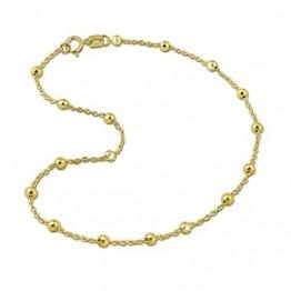 GoldDream Fußkette 25cm Damen 333er Gelbgold Schmuck Kugeln gold D3GDF0025Y Gold, Gelbgold Fußschmuck für die Frau - 1