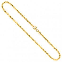 Goldkette, Ankerkette diamantiert Gelbgold 585/14 K, Länge 60 cm, Breite 2.5 mm, Gewicht ca. 19.4 g, NEU - 1
